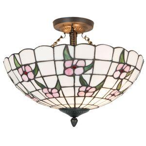 Závěsné světlo Tiffany Flower - Ø 41*33 cm 2x E27 max 60w Clayre & Eef
