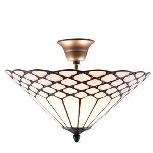 Závěsné Tiffany světlo Roof - Ø 42*29 cm / E14/Max. 2x40  Clayre & Eef