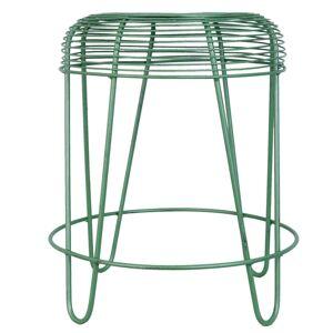 Zelená kovová stolička - Ø 40*46 cm Clayre & Eef