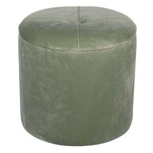 Zelená podnožka s úložným prostorem - Ø 35*29 cm Clayre & Eef