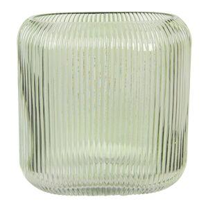 Zelená skleněná oválná váza Daffy - 19*7*16 cm