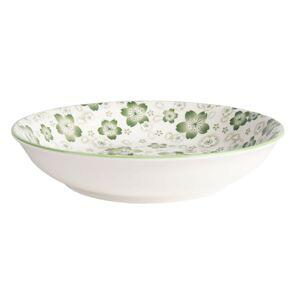Zelený hluboký talíř Martine – Ø 20*4 cm Clayre & Eef
