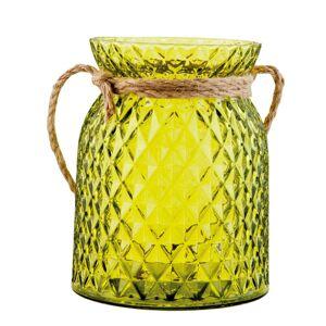 Zelený svícen na čajovou svíčku - Ø 12*15 cm Clayre & Eef