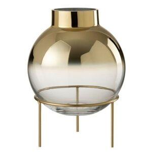 Zlatá baňatá váza na noze - 22*22*30 cm J-Line