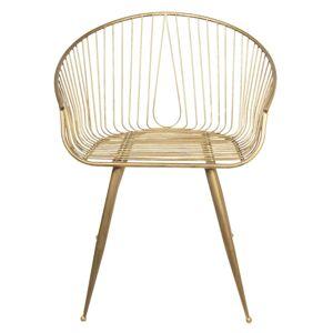 Zlatá kovová židle - 66*62*84 cm Clayre & Eef
