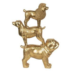 Zlaté dekorační sousoší psů Chiens - 29*10*41 cm