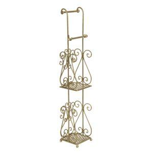 Zlatý kovový stojan na toaletní papír Frannie - 17*17*97 cm Clayre & Eef