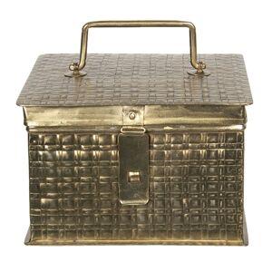 Zlatý kovový úložný box Marcelon - 19*19*13 cm