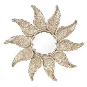 Zrcadlo se zlatými křídly - Ø 45*3 cm Clayre & Eef