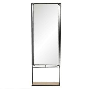 Zrcadlo v kovovém rámu s policí Pépin - 40*15*115 cm